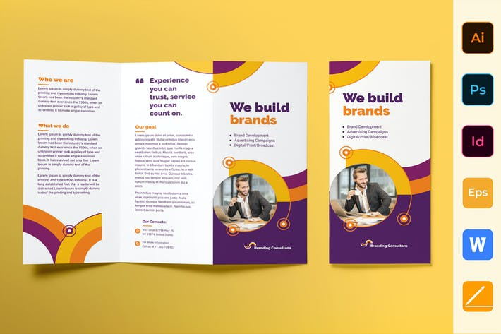 Thumbnail for Branding Consultant Brochure Trifold