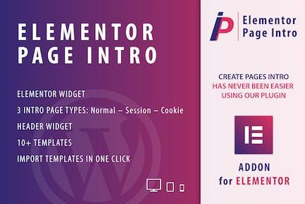Introducción a la Página para Elementor WordPress Plugin
