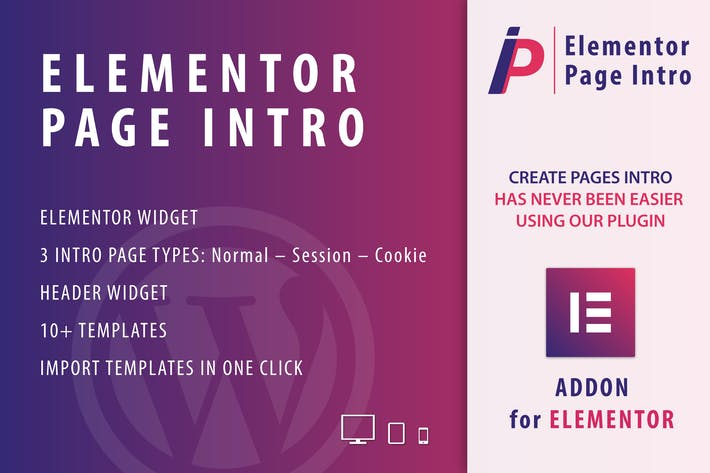 Thumbnail for Page Intro for Elementor WordPress Plugin