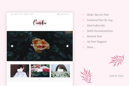 Camelia - Responsive Blogging Tumblr Thème