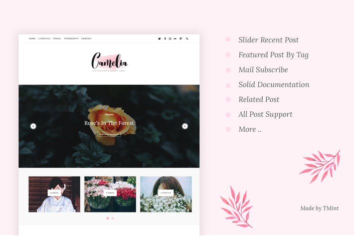 Thumbnail for Camelia - Responsive Blogging Tumblr Thème