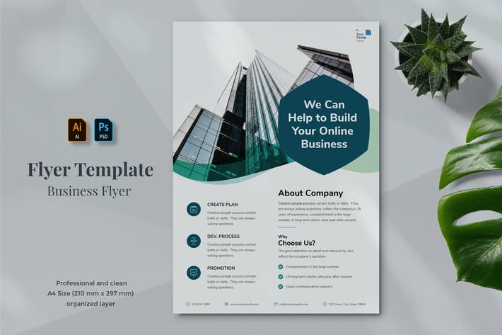 Thumbnail for Business Flyer Template 21