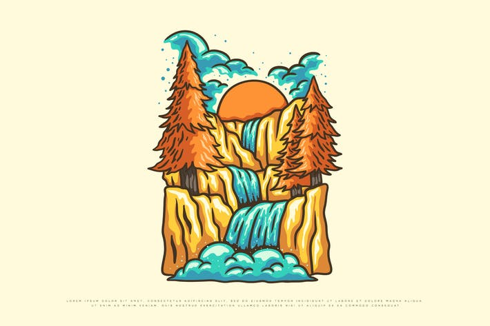 vector illustration of nature - clothing design