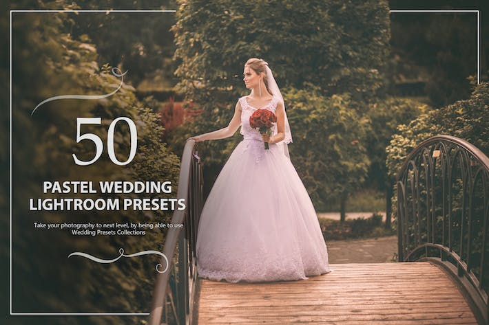 Thumbnail for 50 Pastel Wedding Lightroom Presets