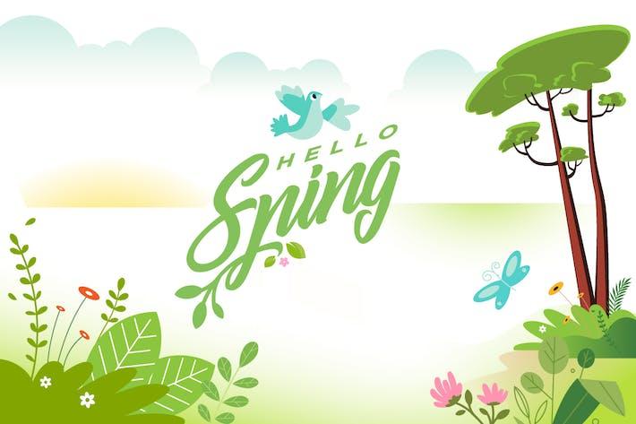 Thumbnail for Hello spring banner