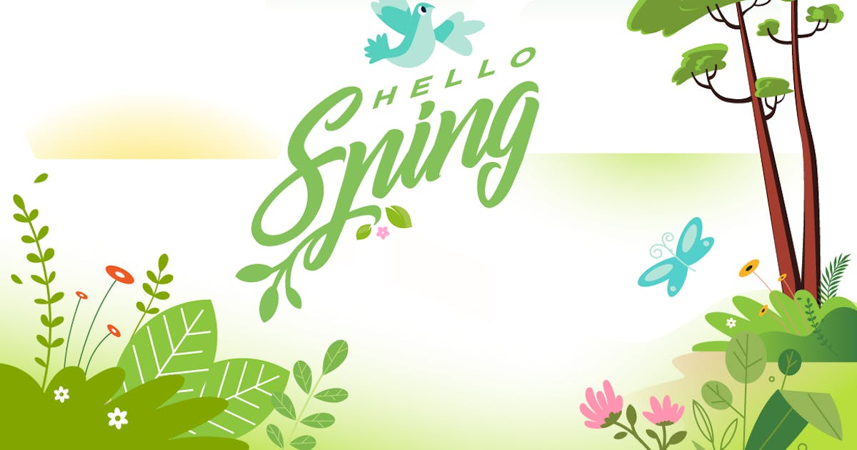 Download Hello spring banner by PureSolution