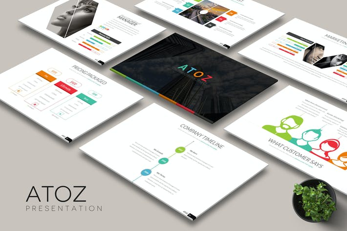 Cover Image For Atoz - Keynote Template