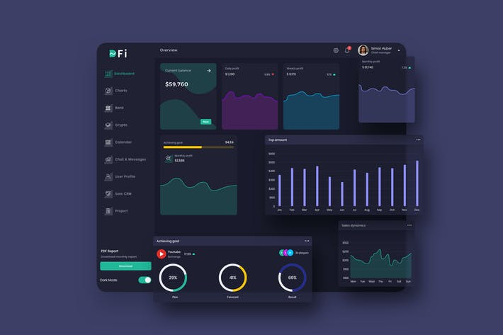 Thumbnail for DFi Finance Dashboard Ui Dark - P