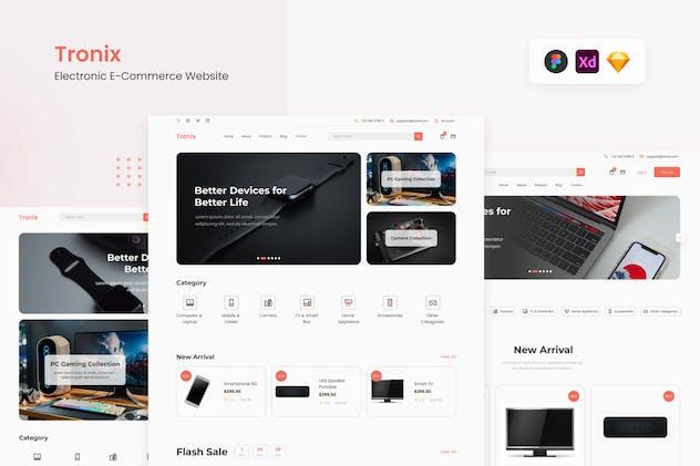 Tronix - Clean Electronic E-Commerce Website UI