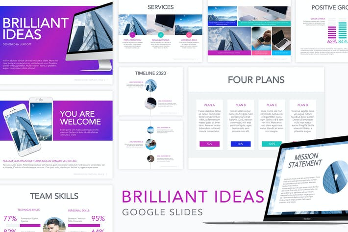 Thumbnail for Brilliant Ideas Google Slides Template