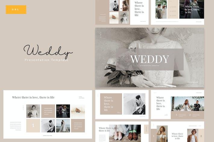 Thumbnail for Weddy - Творческий Свадьба Google Слайды Шаблон