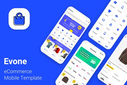 Evone - eCommerce Shop & Store Mobile Template