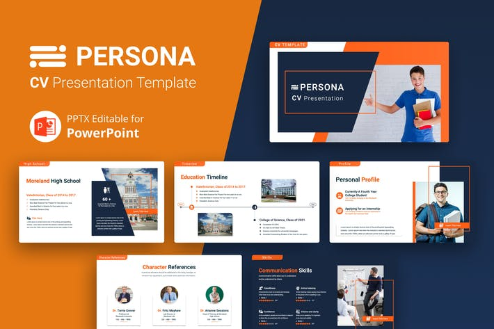 Thumbnail for PERSONA – Professional CV Presentation Template