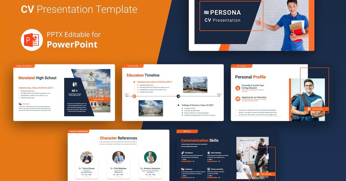 Download PERSONA – Professional CV Presentation Template by Premast