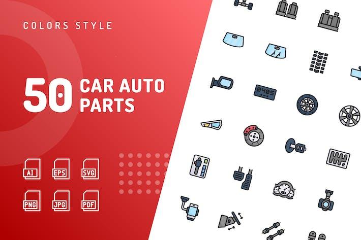Thumbnail for Car Auto Parts Color Icons