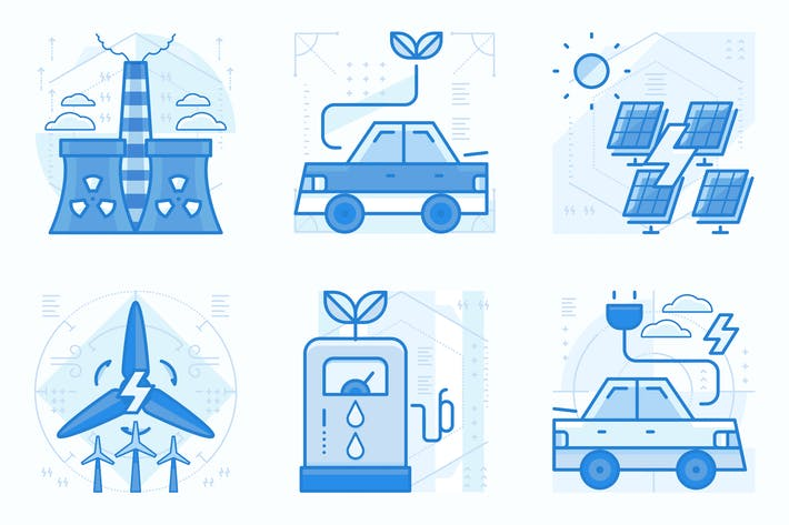 Thumbnail for Energy and Ecology UI UX Illustrations