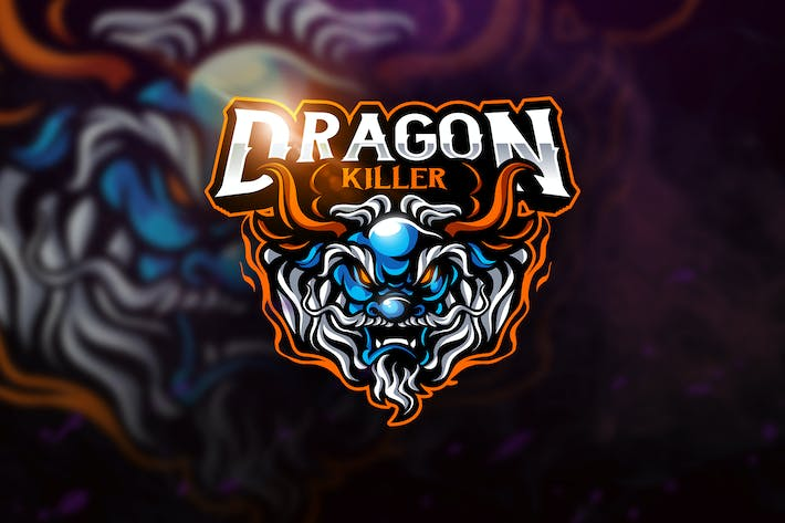 Thumbnail for Dragon Killer - Mascot & Esport Logo
