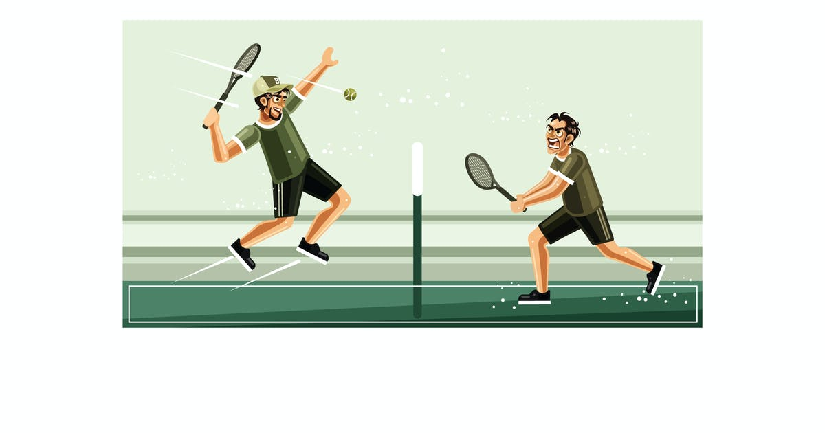 Download Tennis Match Graphics Vector Illustration by IanMikraz