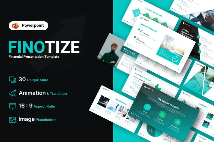 Thumbnail for Finotize Financial Powerpoint Template