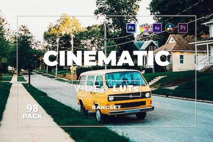 Набор кинематографических материалов Bangset 98 Видео LUTs