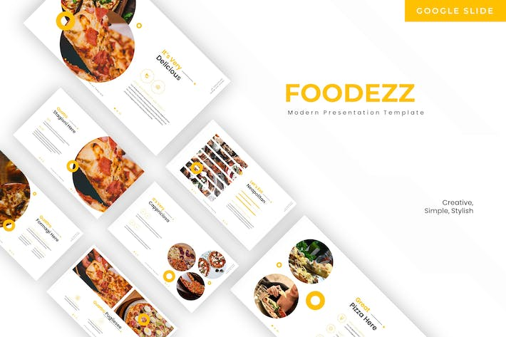 Cover Image For Foodezz - Google Slide Template