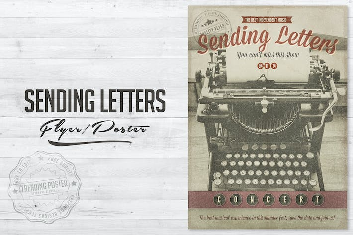 Cover Image For Writing Letters Poster Flyer