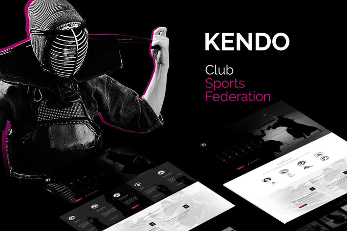 Kendo - Sport Club and Federation Template