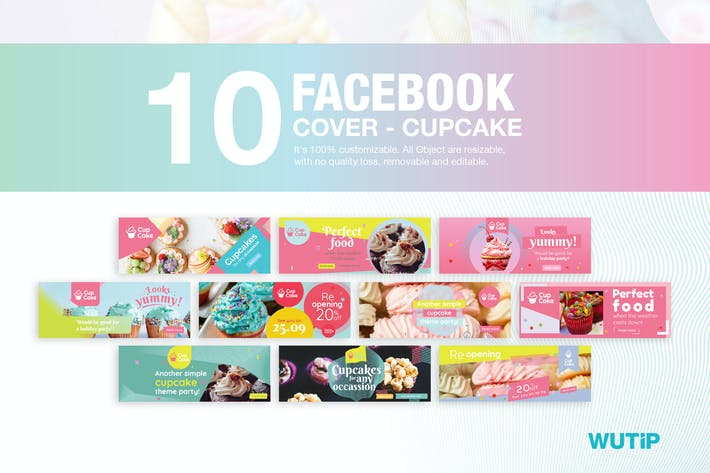 Thumbnail for 10 Facebook Cover-Cupcake