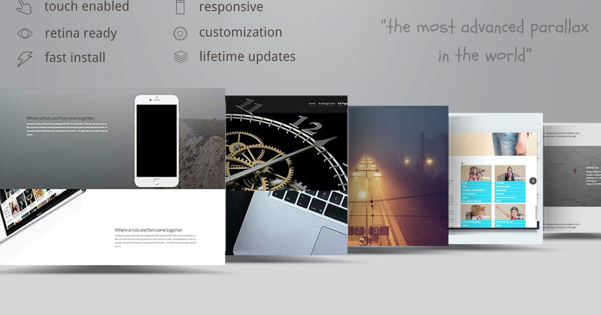 Download The Parallaxer WP - Parallax Effects on Content by ZoomIt
