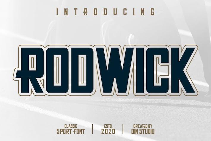 Thumbnail for Rodwick-Classic Sport Font