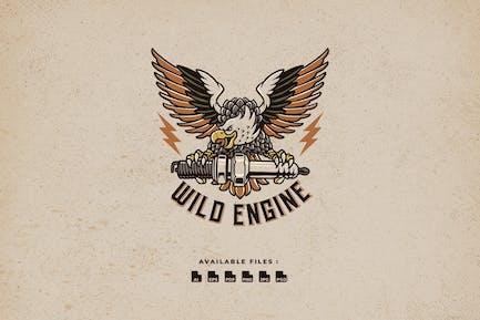Eagle Wild Engine Vintage Logo