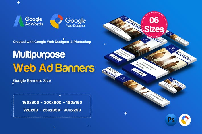 Thumbnail for C22 - Multipurpose, Business Banners Ad GWD & PSD