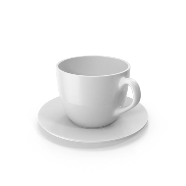 Small Cup with White Plate