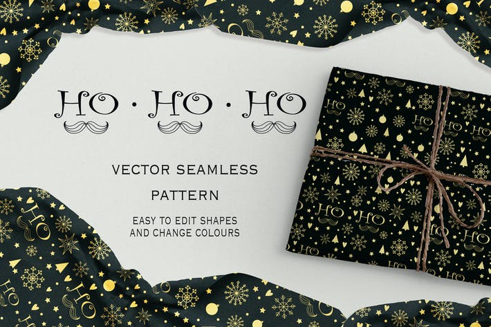 Thumbnail for Ho-Ho-Ho seamless pattern
