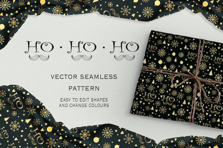 Ho-Ho-Ho seamless pattern