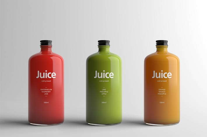 Thumbnail for Juice Bottle Packaging Mock-Up