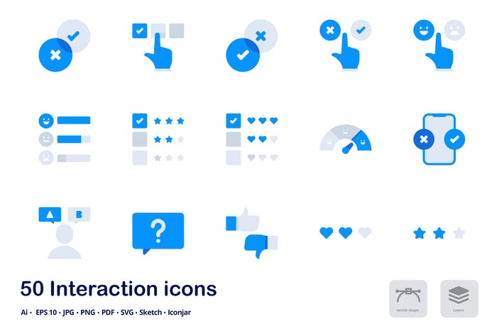 Thumbnail for Interactions Accent Duo Tone Flat Icons