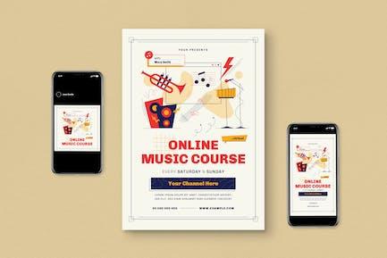 Virtual Music Course Flyer Set