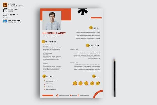 Elegant CV Resume Vol. 06