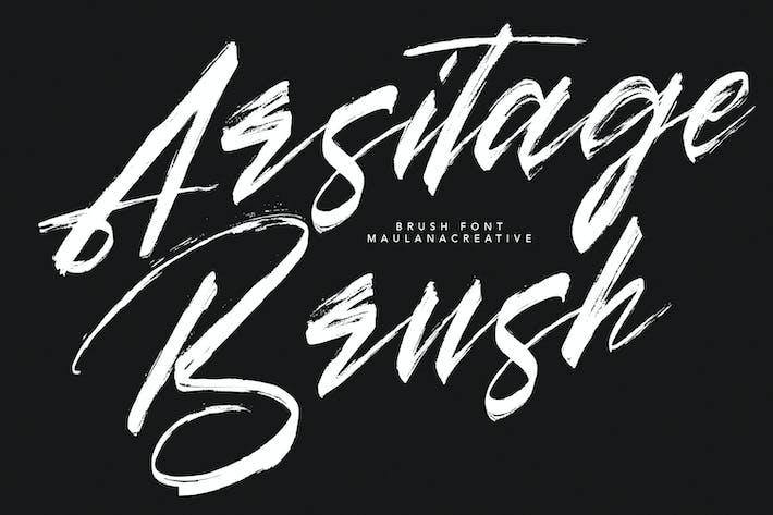 Thumbnail for Arsitage Brush Font