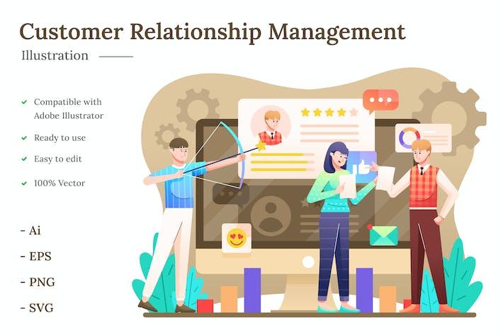 Thumbnail for Customer Relationship Management Illustration