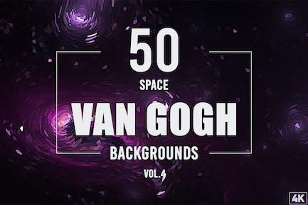 50 Van Gogh Weltraum-Hintergründe - Band 4