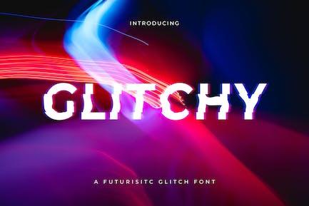 Glitchy - Une police Glitch numérique