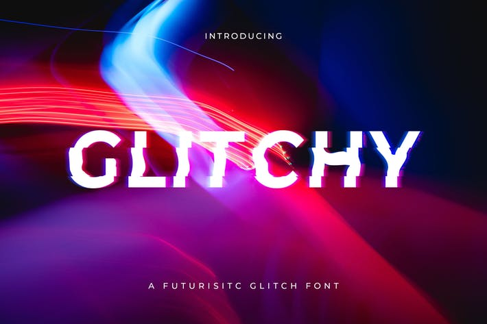 Thumbnail for Glitchy - A digital Glitch Font