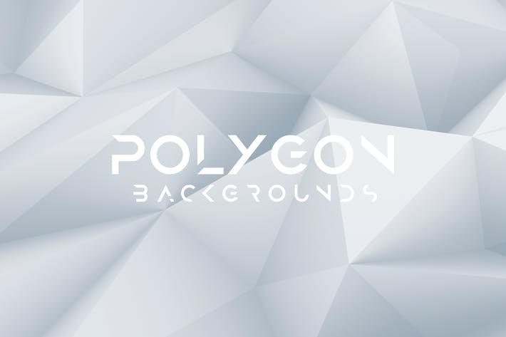 Cover Image For White Polygon Background Set