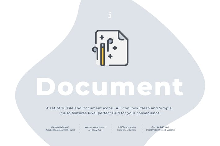 Thumbnail for 20 Document icon set