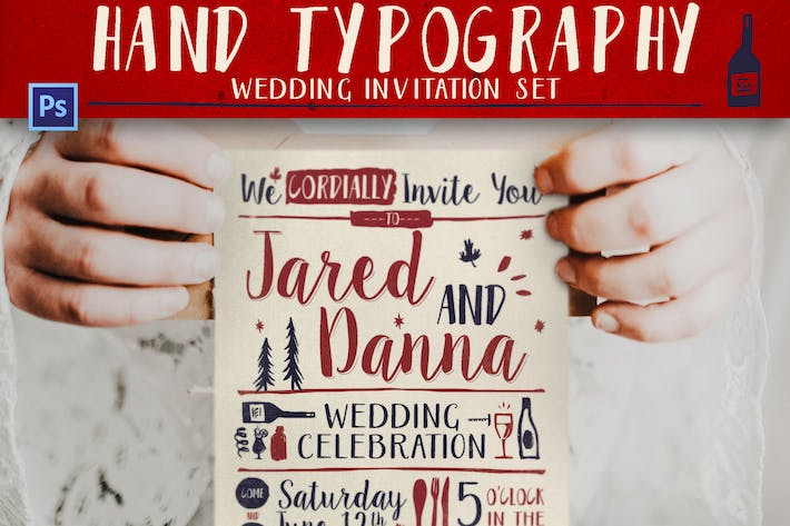Thumbnail for Hand Lettering Wedding Invitation