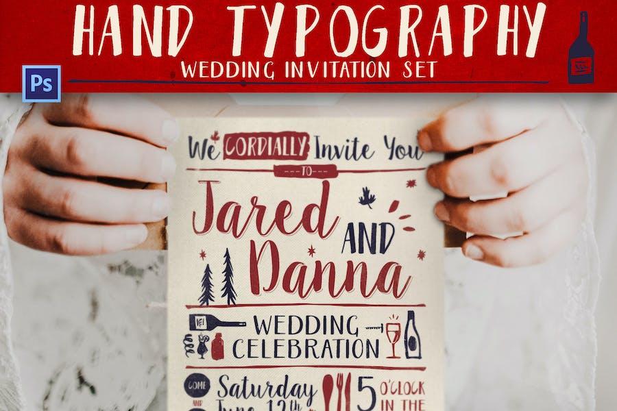 Hand Lettering Wedding Invitation