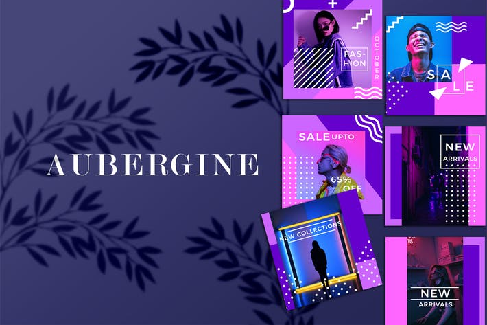 Thumbnail for Aubergine - Instagram Fashion Feed Ads Template