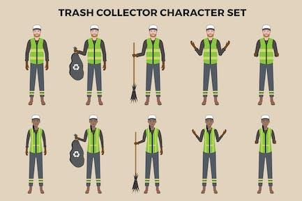 Trash Collector Character Set – Illustrations